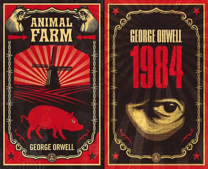 a comparison of george orwells animal farm and 1984 Following is an excerpt from a letter from george orwell to dwight macdonald, written in december 1946, soon after the publication of animal farm in the us according to the editor of the letters, peter davison, who also supplied the footnotes, macdonald wrote orwell that.